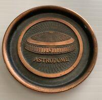 Vtg Houston Astros Oilers Astrodome Coaster Ashtray Souvenir Hyde Park MLB NFL !