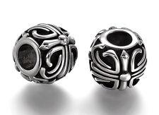 Stainless Steel Canterbury Cross European Bead Charm For European Charm Bracelet
