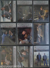 Supernatural Seasons 1-3 Winchester Brothers 9 Trading Card Insert Set J1 - J9