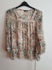 E-VIE MATERNITY - Pregnant Mum-To-Be Lovely Sleeved Floral Top / Blouse Size 14