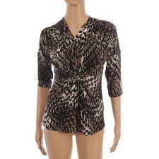 Stretch V Neck Waist Length Formal Tops & Shirts for Women