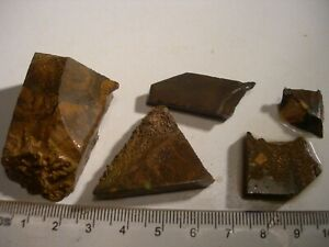 (Lot 1427) 5 pieces Boulder Opal, unique pieces for cutting stones and setting