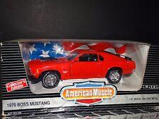 ERTL American Muscle 1970 Ford Boss Mustang Shaker Hood 1:18 Scale Diecast Car 1