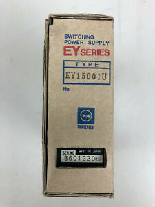 Shindengen EY15001U 15V 1A  EY Series 15W Switching Power Supply, Enclosed --NEW