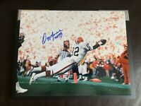 "Ozzie Newsome Signed 11x14 Photo Inscribed ""HOF 99"""