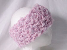 Crochet Headband Earmuff Warm & Cozy-Lt. Pink Purple-Handmade Pizazz Creations