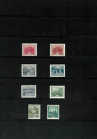 Austria 1929-30 Castle Issues Scott #'s 332-339 High Values Mint Hinged F/FV