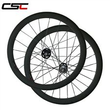 CSC 50mm tubular fixed gear carbon wheels / carbon track wheelset