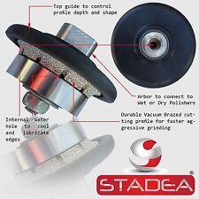 "STADEA Diamond Profile Wheel Hand Bits 3/16"" Demi Radius Granite Stone Profiling"