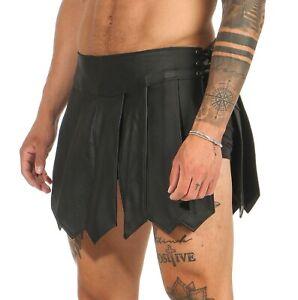 Gladiator Rock Kilt Echt Leder Schnürung seitlich  A Legionär Clubwear XS-4XL