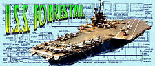 """Build model Aircraft Carrier 52"""" 4 Radio Control Full Size Printed PLAN &Article"""