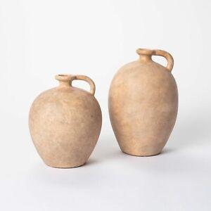 Studio McGee Decorative 10x7 & 8x7 Set Weathered Jug Vase Brown Target Threshold