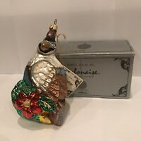 Polonaise Kurt S. Adler Komozja Partridge Christmas Glass Ornament