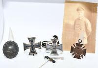4 Orden + Miniatur & Foto / Eisernes Kreuz 1. & 2. Klasse 1914 EK FEK VWA 1. WK