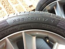 2007/8 Saab 9-3 Aero 4 X Alloy wheels with continental tyres-All good condition.