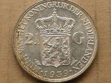 Rijksdaalder, Wilhelmina, 1939, zilver, prachtig