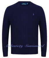 Ralph Lauren Men's Crew/Zip Cable Knit Cotton Jumper Various Colours RRP £119