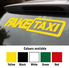 Fake Taxi Sticker Large Size Slammed Ride Euro JDM Drift Air Low Dub VW Audi
