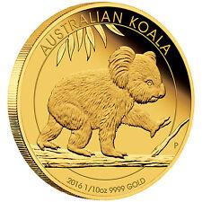 Australian Koala 1/10 oz Gold Proof Coin Australia 2016
