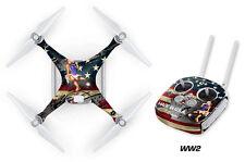 DJI Phantom 4 Drone Wrap RC Quadcopter Decal Sticker Custom Skin Accessory WW2