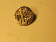 vintage sterling silver art deco BCS initials pin broach