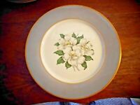 "Vintage Princess China with Dogwood Flowers 10"" Dinner Plates Set of 5"