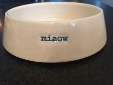 "NEW! Keith Brymer Jones ""MIAOW"" Ceramic Cat Food/Water Bowl - 7"""