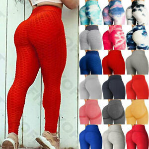 Women Yoga Pants Anti-Cellulite Leggings Sports Fitness Push Up Gym Trousers cy5