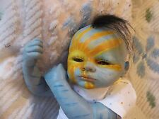 REBORN NEWBORN BABY MYTHICAL SUN DEITY ALIEN ARTIST DOLL OOAK RAINBOW AVATAR