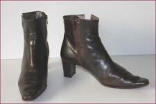 HEYRAUD Bottines Boots Tout Cuir Marron Foncé T 36 BE