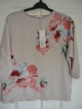 Rocha John Rocha Soft Pink Multi Floral Raglan Sleeve Top UK 12 EUR 38-40 US 8