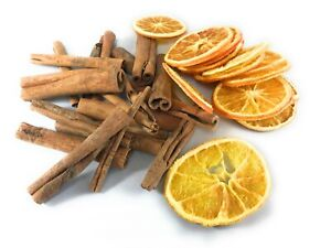 Christmas Dried Fruit - Dried Orange Slices and 8cm Cinnamon Sticks Multipack