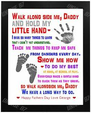 FATHERS DAY DADDY DAD GRANDAD UNCLE Birthday Gift Personalised Word Art Poem