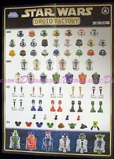 DISNEY STAR WARS BUILD-A-DROID FACTORY 2012 COLLECTION PARTS POSTER - VERY RARE