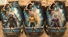 Dc Aquaman Movie, 3 Action Figures Set Collection, Aquaman, Black Manta, Orm Lot