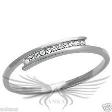 "Ladies 8"" Top Grade Crystals Accented Stainless Steel Bangle Bracelet TK2248"
