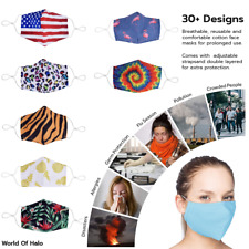 Cotton Face Mask Washable & Reusable w/ Fashion Designs ~ 30+ Fabric Styles