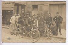 CPA  PARIS 75  - AUTOMOBILE VELO BICYCLETTE ATELIER MECANIQUE VERS 1900 NS ~D27