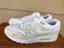 Nike Air Max 1 Premium 512033-110 Men's Athletic Sneakers White Safari Size 12