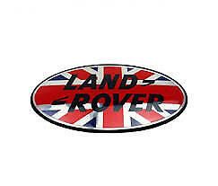 Land Rover Grill Badge Sticker 86mm (UK Flag)