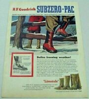 1954 Print Ad BF Goodrich Litentufs Subzero-Pac Hunting Boots in Snow