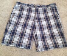 MEN'S CLAIBORNE BRAND Brown/navy Plaid  SHORTS - BRAND NEW - SIZE 30
