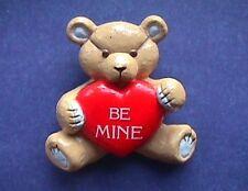 Vintage Teddy Hugglesbie Valentine/'s Day Bear Pin Free Shipping