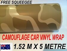 OZ CAMOUFLAGE Car Vinyl Wrap Roll Sticker 1.52M x 5 Metres , BRAND NEW