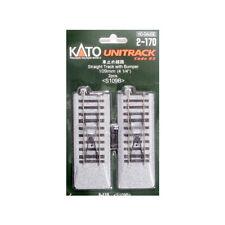NEW Kato 2-170 Straight Track w/Bumper 109mm 4-1/4 2 HO Scale FREE US SHIP