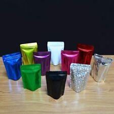 New Aluminum Foil Stand Up Zip Bags Resealable Mylar Food Packaging Lock Pouches