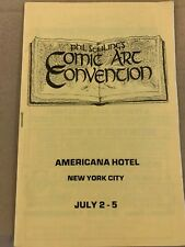 NY Comic Art Convention Program Booklet  1978