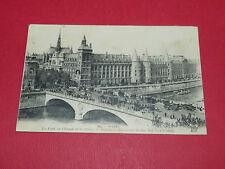 CPA CARTE POSTALE 1922 PARIS PONT AU CHANGE ET PALAIS JUSTICE BRIDGE LAW-COURTS