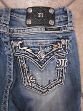 Girl's MISS ME JK5443P3 Monogrammed Flap Pocket Capri Jeans....size 14