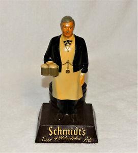 "Vintage Schmidt's of Philadelphia Metal Bartender Statue, Since 1860-8 1/2"" tall"